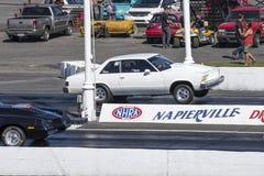 Chevrolet malibu wheelie on the track. Napierville dragway super tour, june 2017 Stock Photography