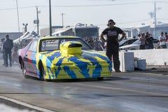 Pontiac firebird drag car ready to start. Napierville dragway super tour, june 2017 Stock Images