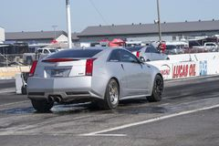 Rear side view of chevrolet cadillac on the track. Napierville dragway super tour, june 2017 Stock Images