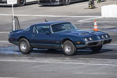 Vintage firebird at the starting line Stock Image