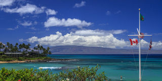 Napili Bay and the island of Lanai in the background Royalty Free Stock Photos