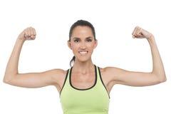 Napinać sprawności fizycznej kobiety Zdjęcie Stock
