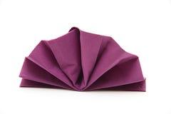 Napkin. Paper napkin monochrome and folded Stock Photo