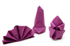 Napkin. Paper napkin monochrome and folded Royalty Free Stock Images