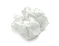 Napkin. White napkin on a white background Stock Photo