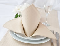Napkin with bow Royalty Free Stock Photos