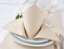 Napkin with bow Royalty Free Stock Photos