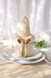 Napkin with bow Royalty Free Stock Images