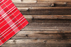 Napkin. On brown wooden background Royalty Free Stock Image