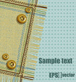 Napkin with buttons. Vector. Eps 8 Stock Photography