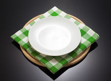 Napkin cloth and cutting board Stock Images