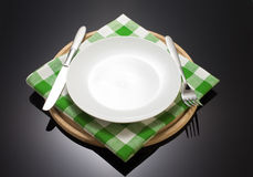 Napkin cloth and cutting board Royalty Free Stock Photography