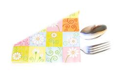 Napkin and the cutlery Royalty Free Stock Photo