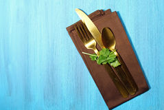 Napkin with cutlery Stock Photography