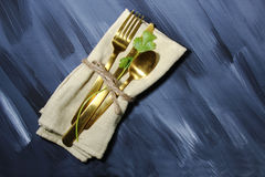 Napkin with cutlery Royalty Free Stock Photos