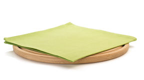 Napkin and cutting board on white Stock Images