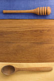 Napkin at cutting wood Royalty Free Stock Photo