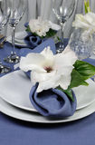 Napkin decorated with flower Stock Image