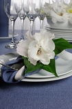 Napkin decorated with flower Stock Photography