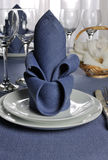 Napkin decorated with flower Royalty Free Stock Photo