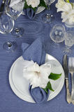 Napkin decorated with flower Royalty Free Stock Photos