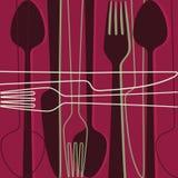Napkin design. Vector illustration of restaurant card or menu Stock Photos
