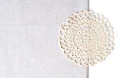 Napkin at the edge of a tablecloth Royalty Free Stock Photography