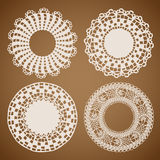 Napkin elegant design elements Royalty Free Stock Image