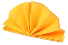 Napkin folded as fan Stock Photography