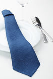 Napkin folded as tie Stock Images