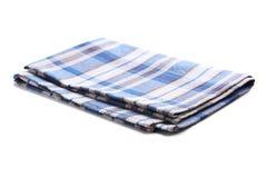 Napkin. Folded napkin on white background Royalty Free Stock Images