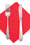 Napkin and fork Royalty Free Stock Image