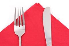 Napkin and fork Stock Photo