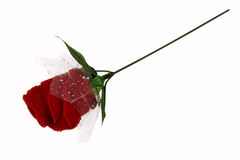 Napkin rose Royalty Free Stock Images