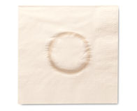 Napkin with glass stain Stock Images