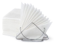 Napkin holder with napkins Stock Images