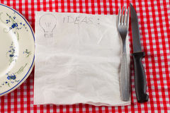 Napkin for ideas Stock Photo