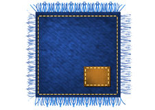 Napkin from jeans fabric Stock Photography