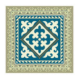 Napkin of the Kyrgyz national ornament Stock Images