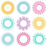 Napkin lace design elements Royalty Free Stock Photo