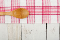 Napkin and ladle Royalty Free Stock Photography