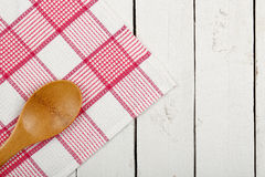 Napkin and ladle Royalty Free Stock Images