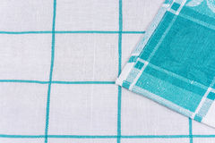Napkin made of fabric with a wrapped edge to the middle Royalty Free Stock Photos