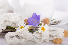Napkin of medieval style, flower Royalty Free Stock Photography
