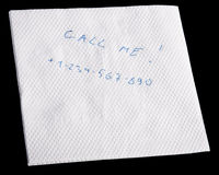 Napkin with message Stock Photos