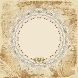 Napkin the old card Royalty Free Stock Photography