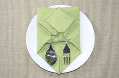 Napkin Origami Stock Image