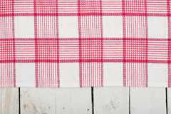 Napkin over planks Royalty Free Stock Images