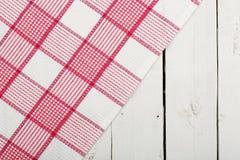 Napkin over planks Royalty Free Stock Photo