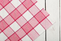 Napkin over planks Royalty Free Stock Photos